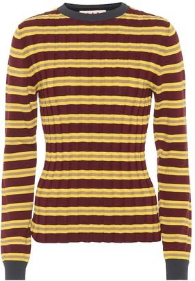 Marni Striped cotton-blend sweater