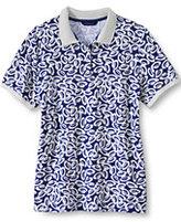 Classic Women's Pique Polo Shirt-Melon Breeze Oxford Stripe