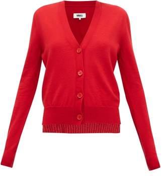 MM6 MAISON MARGIELA Layered Wool-blend Cardigan - Womens - Red