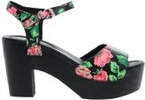 Messeca Joni Rose Print Heeled Sandal - Multi
