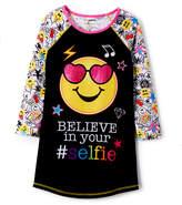 Komar Kids Black 'Believe in your Selfie' Emojination Nightgown - Girls