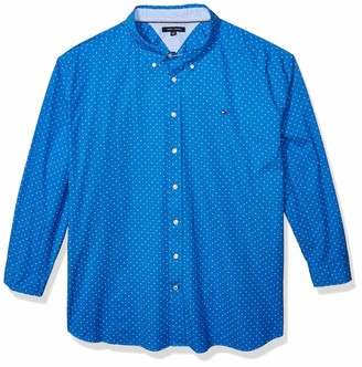 Tommy Hilfiger Men's Big and Tall Long Sleeve Button Down Shirt in Classic Fit