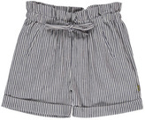 Nui Sale - Lauren Chambray Striped Organic Cotton Shorts