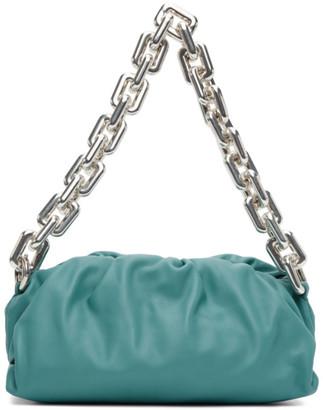Bottega Veneta Blue The Chain Pouch Clutch