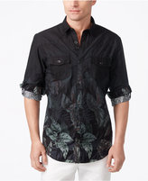 INC International Concepts Men's Faded Leaf Print Shirt, Created for Macy's