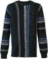 Sacai Mexican stripe knit jumper - men - Cotton/Acrylic/Cupro - 2