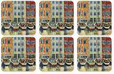 Pimpernel Boat Scene Square Coasters (Set of 6)