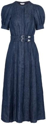Gabriela Hearst Patricia belted linen midi dress