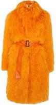Saks Potts - Rosti Belted Shearling Coat - Bright orange