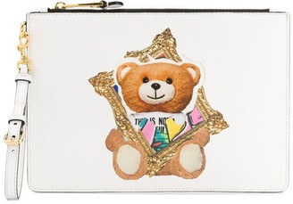 Moschino Frame Teddy Bear print clutch