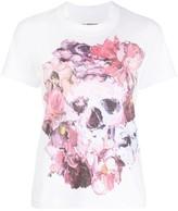 Junya Watanabe painted skull print T-shirt