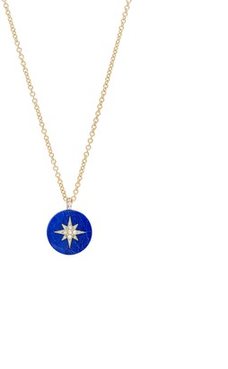 Noush 14ct Yellow Gold Diamond And Lapis Lazuli North Star Necklace