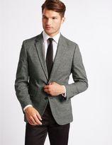 Marks and Spencer Single Breasted Mouline Jacket