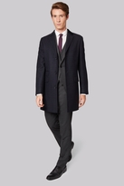 Moss Bros Slim Fit Blue Check Overcoat