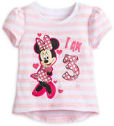 Disney Minnie Mouse ''I Am 3'' Birthday Tee for Girls