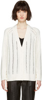3.1 Phillip Lim White Pointelle Cardigan