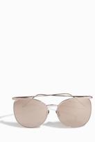 Linda Farrow Luxe Rimless Thin Frame Sunglasses