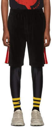 Gucci Black Chenille Bermuda Shorts