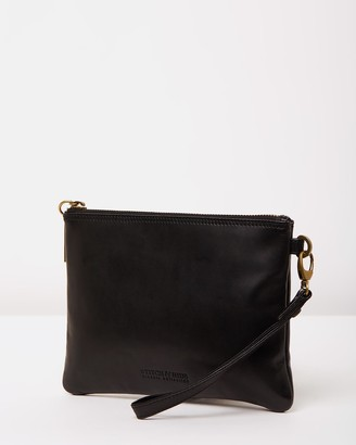 Stitch & Hide - Women's Black Leather bags - Cassie Classic Collection Clutch - Size One Size at The Iconic