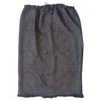 Stella Cadente Blue Silk Skirt for Women Vintage