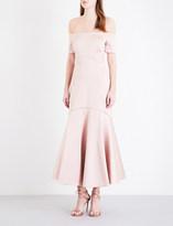 Temperley London Onyx satin dress