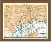 Richmond Framed Map of Richmond, VA Wall Décor