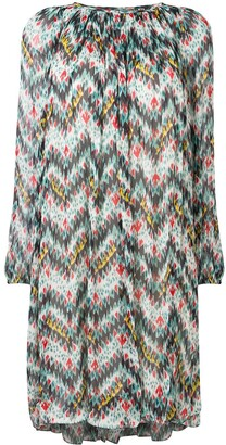Etoile Isabel Marant Zig-Zag Print Midi Dress