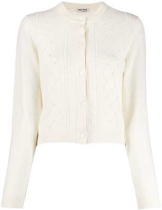 Miu Miu Beaded Cardigan