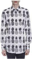 Dolce & Gabbana Pineapple Printed Poplin Cotton Shirt