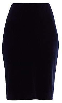 Teri Jon by Rickie Freeman Women's Velvet Ruched Pencil Skirt