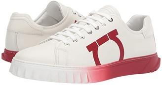 Salvatore Ferragamo Cube 8 Sneaker (White/Red) Men's Shoes