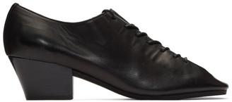 Lemaire Black Heeled Derbys