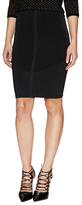 Milly Ribbed Stretch Zipper Pencil Skirt