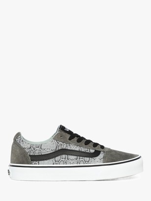 Vans Ward Lace Up Trainers, Grey/Snake