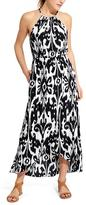 Athleta Ikat Bloom Ripple Maxi Dress