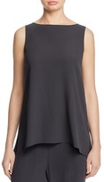 Eileen Fisher High/Low Silk Shell