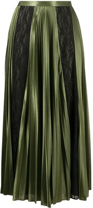 Christopher Kane Lace Panelled Pleated Skirt