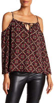 Laundry by Shelli Segal Cold Shoulder Print Top