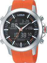 Lorus RW609AX9 - Men's Watch, caucciu, Color: arancio