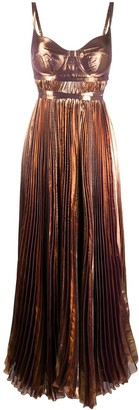 Maria Lucia Hohan Evelina metallic-print gown