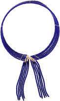 Fragments for Neiman Marcus Seed Bead Fringed Choker Necklace, Blue