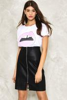 Nasty Gal nastygal Zip It Vegan Leather Midi Skirt