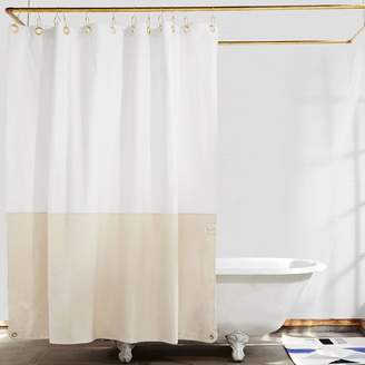 west elm Quiet Town Orient Shower Curtain - Sand