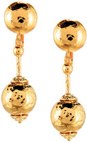 Jose & Maria Barrera Hammered Ball Drop Earrings