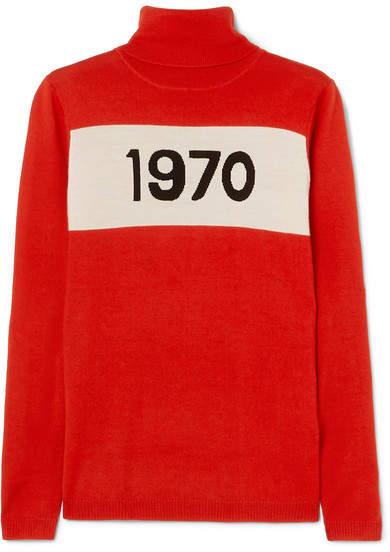 1970 Wool Turtleneck Sweater - Red
