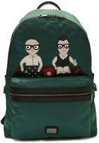 Dolce & Gabbana Vulcano Designers Patch Backpack