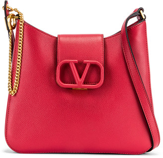 Valentino Small VSling Hobo Bag in Rock Pink & Rose Cannelle | FWRD