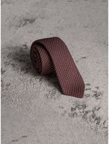Burberry Slim Cut Pinpoint Wool Silk Tie