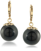 Trina Turk 14K Gold-Plated Bead Linear Drop Earrings