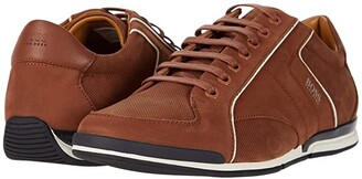 HUGO BOSS Saturn Low Profile Sneaker by BOSS (Medium Brown) Men's Shoes